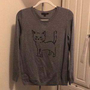 Grey Cat Sweater